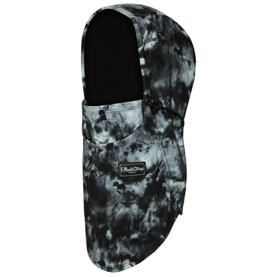 BlackStrap The Team Hood Balaclava Tie Dye Black USA Made Facemask