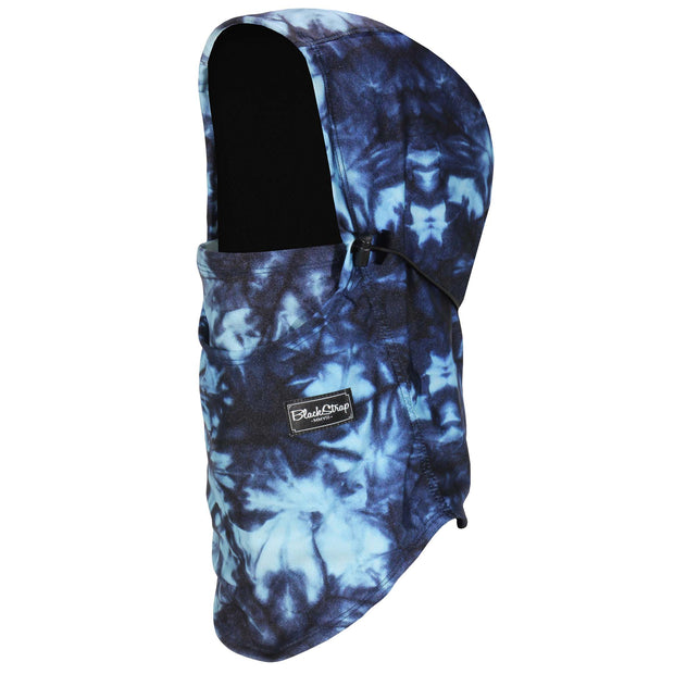 BlackStrap The Team Hood Balaclava Tie Dye Navy USA Made Facemask