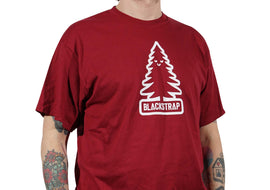 BlackStrap Tee Shirt Happy Tree Crimson Men's