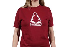 BlackStrap Tee Shirt Happy Tree Crimson Women's