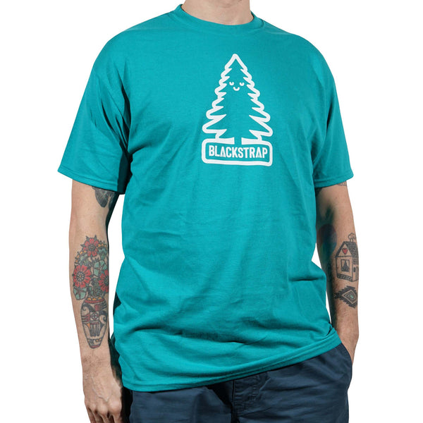 BlackStrap Tee Shirt Happy Tree Teal Men's