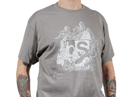 BlackStrap Tee Shirt Zach Johnsen Natural Gray Men's