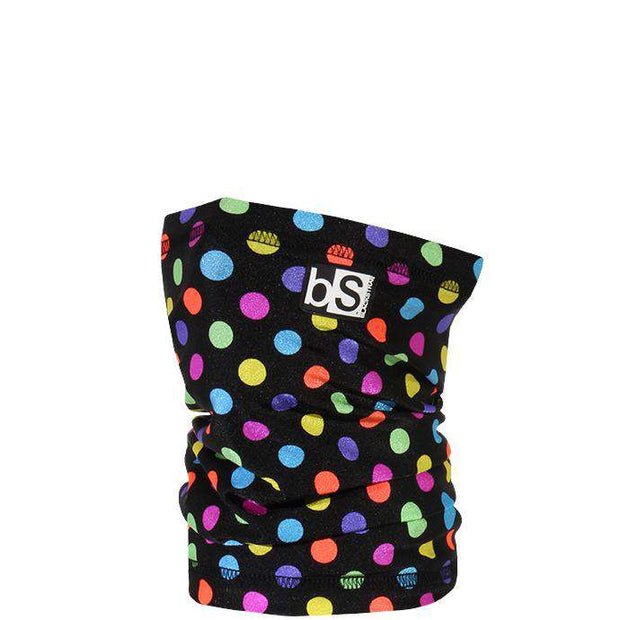 The Kids Dual Layer Tube Facemask | Polka Dots Rainbow - BlackStrap Industries Inc. ALL RIGHTS RESERVED.