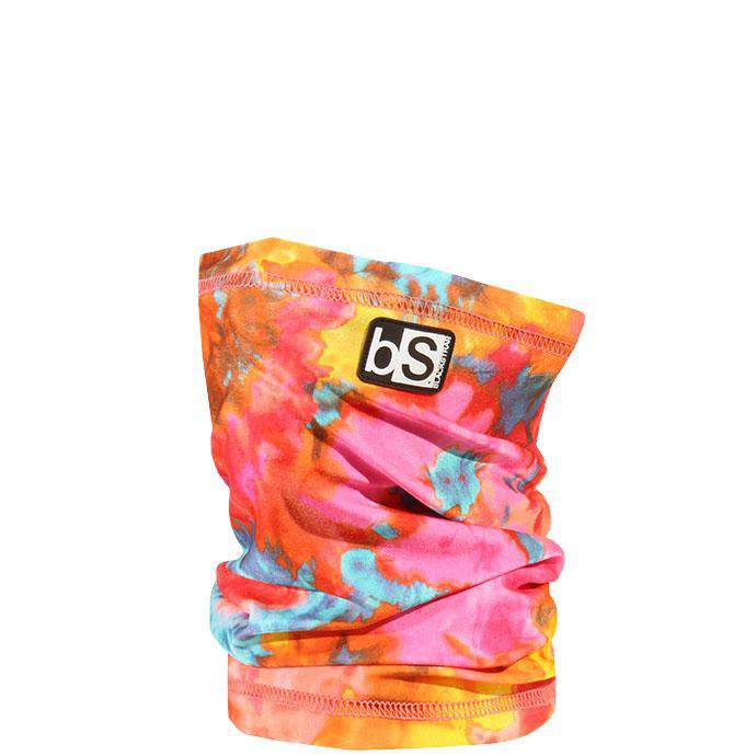 The Kids Dual Layer Tube Facemask | Tie Dye Neon