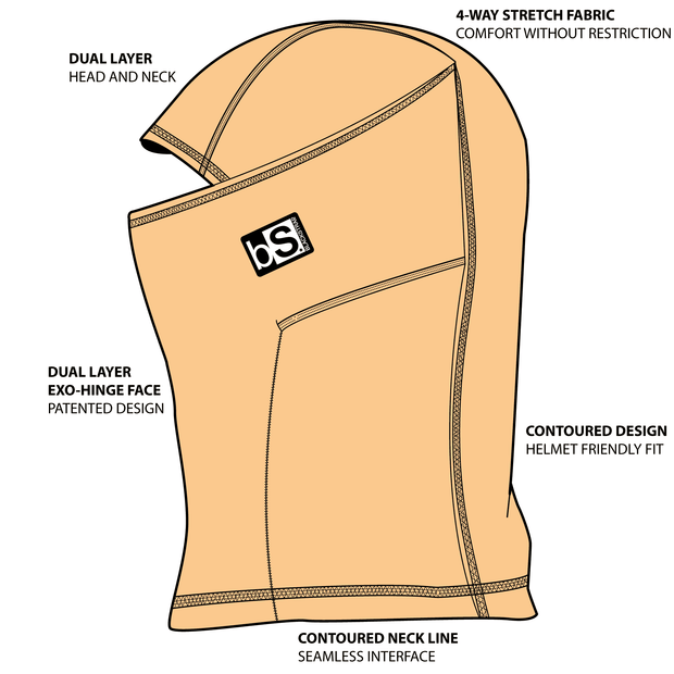 The KIDS Expedition Hood | Jigsaw Pattern - BlackStrap Industries Inc. ALL RIGHTS RESERVED.