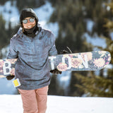 BlackStrap Team Hood Balaclava Snowboarder wearing over beanie