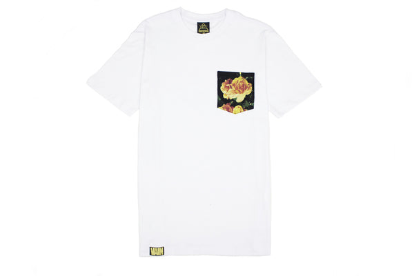 ROSE COLLECTION : [WHITE] POCKET TEE