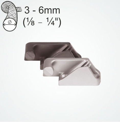 Clamcleat Side Entry MK2 (Port) Silver 3-6 MM