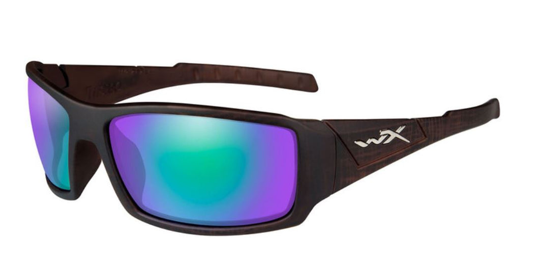 WILEYX Polarised Emerald Mirror (Amber)/Matte Hickory Brown
