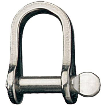 "D Shackle, Pin 3/16"", L:18mm, W:11mm"