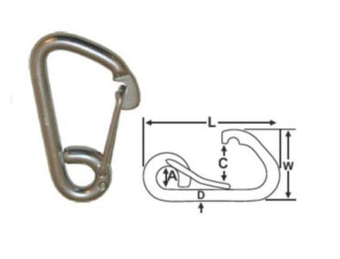 Snap Hook S/S 100mm