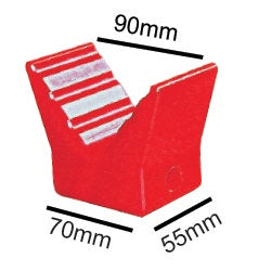 "91411 3"" Poly V Block Red"