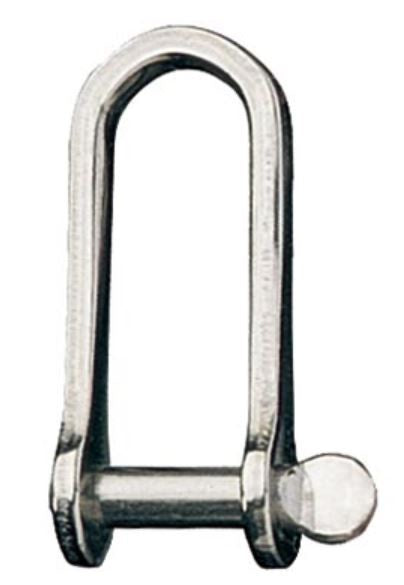 Ronstan Shackle,Long D,Pin 1/4 in: L:43mm,W:14mm