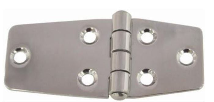 CABIN HINGE - STAMPED EXTRA DOUBLE WIDE - STAINLESS STEEL