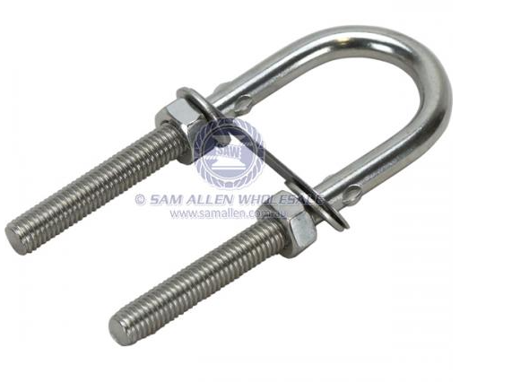SAM ALLEN  8mm x 80mm STAINLESS STEEL U bolt Made in Taiwan - Sold Each