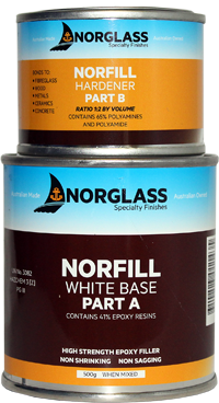 1143 NORFILL WHITE EPOXY FILLER 500g - AVAILABLE IN STORE ONLY