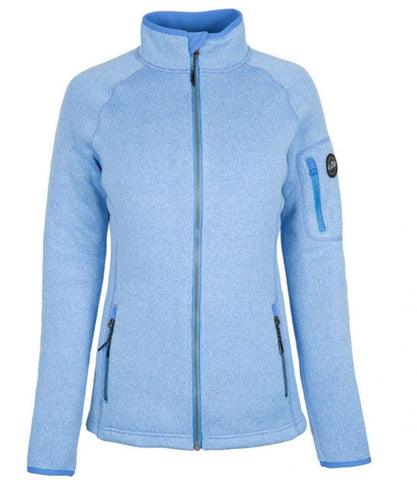 GILL Womens Knit Fleece Jacket Light Blue
