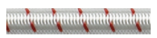 Shock Cord Fleck 10mm White with Red Feck - Sold per Metre