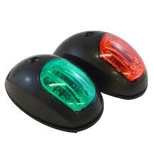 LED Navigation Lights - Side Mount BLACK