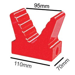 "91413 5"" Poly V Block Red"