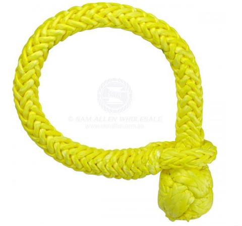 SAM ALLEN SOFT SHACKLE 14MM X 150MM 23750KG YELLOW - SINGLE