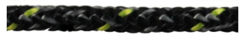 MARLOW ROPE - EXCEL RACING 4MM BLACK / GREY