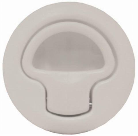 Flush Latch Plast. White