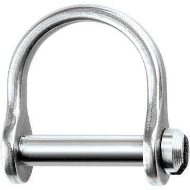 "D Shackle, Wide, Slotted Pin 1/8"", L:12mm, W:9mm"