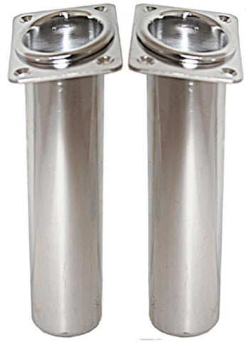 ROD HOLDERS - INCLINED PORT & STARBOARD - Stainless Steel