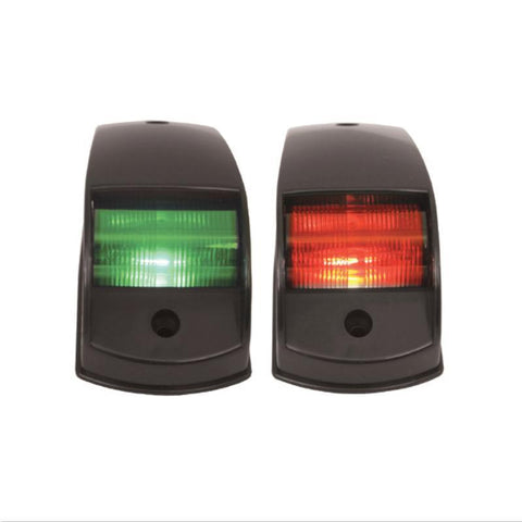 PORT & STARBOARD LIGHTS RECTANGLE - LED (PAIR) - BLACK