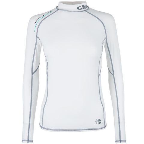 GILL Womens Pro Rash Vest - Long Sleeve White
