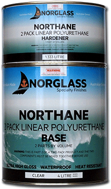 5081 NORTHANE GLOSS BLACK 1litre.  AVAILABLE IN STORE ONLY