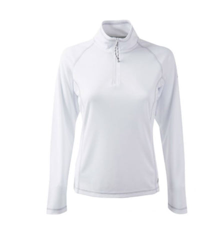 Gill Women's UVTec 1/4 Zip L/S Polo - WHITE - LAST ONES SIZE  8,14,16 ONLY
