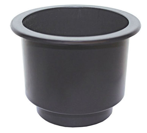 Recessed Drink Holder - Black - Large  Size - Plastic
