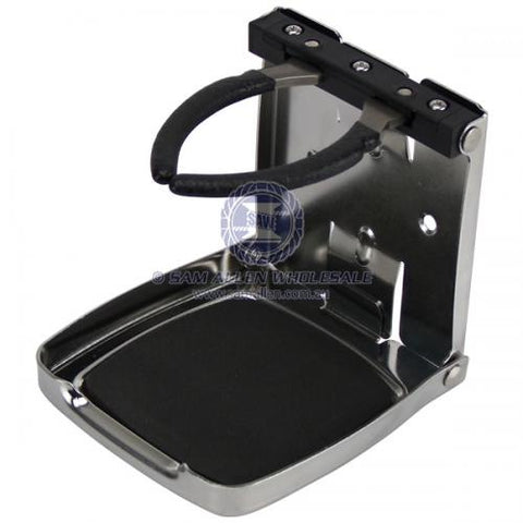 DRINK HOLDER FOLDING STAINLESS STEEL
