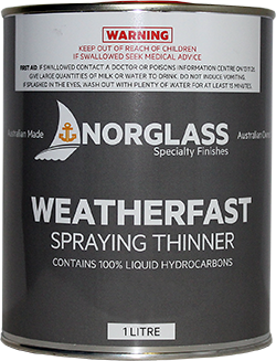 3052 WEATHERFAST SPRAYING THINNERS 1 AVAILABLE IN STORE ONLY litre