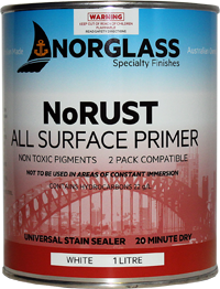 8226 NoRUST ALL SURFACE PRIMER WHITE 1 litre  - AVAILABLE IN STORE ONLY