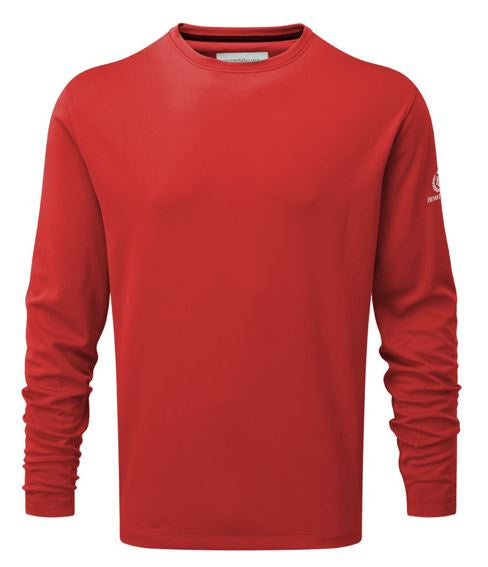 Henri Lloyd Mono Long Sleeve Tee  - RED - LAST ONES SIZE SMALL, MEDIUM & XXlARGE ONLY