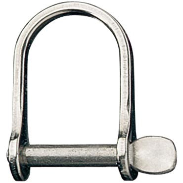 "D Shackle, Wide, Pin 3/8"", L:55mm, W:29mm"