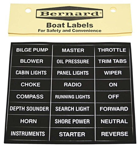 Label -Boat Stick-On