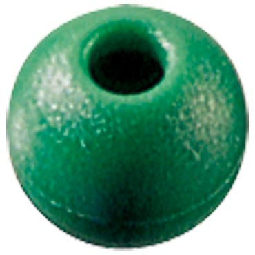 Parrel Bead, Green, 16mm