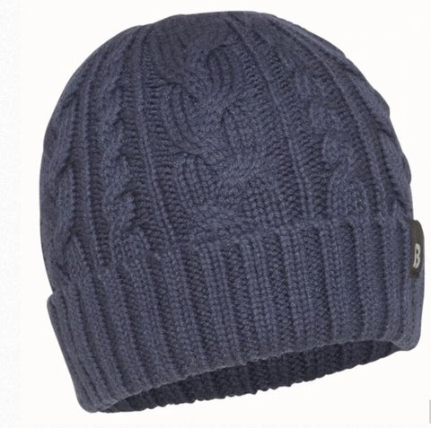 Burke Cable Knit Beanie - NAVY