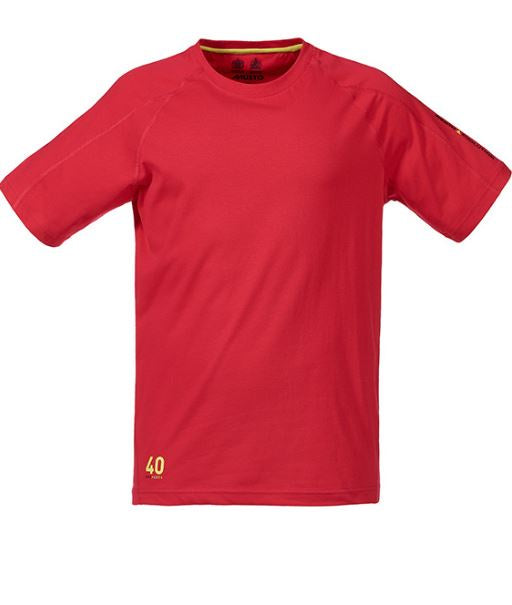 MUSTO EVOLUTION LOGO S/S TEE - RED