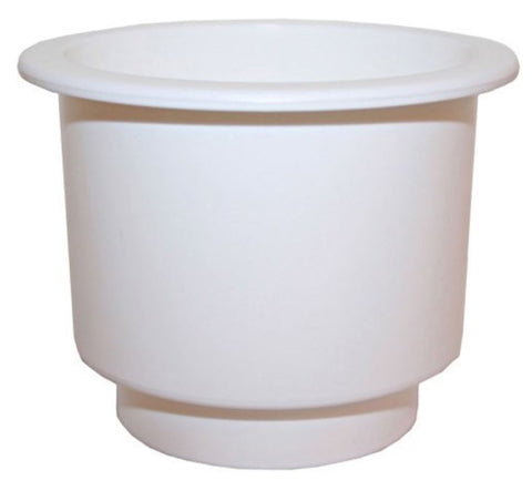 Recessed Drink Holder - White - Large  Size - Plastic