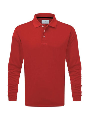 Henri Lloyd Fast Dri Polo Long Sleeve Red