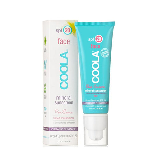 COOLA Mineral Face SPF 20 Lotion Tinted Rose 50 ml - Skiin.dk