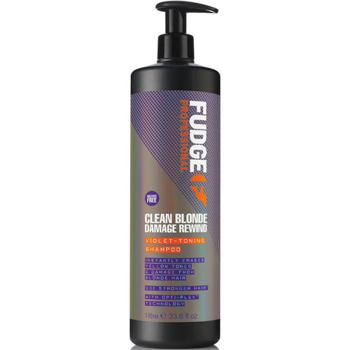 Fudge Clean Blonde Damage Rewind Violet-Toning Shampoo 1000ml Hårpleje Fudge