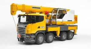 Bruder-  Scania R-Series Liebherr crane truck and Light & Sound Module