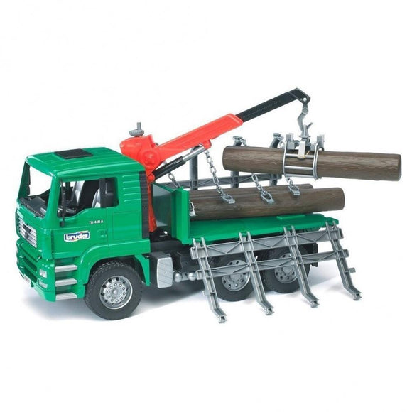 Bruder - MAN TGA Timber Truck With Loading Crane and 3 Trunks