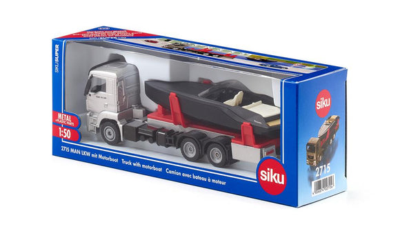 SIKU - 102715 Man Truck With Motor Boat